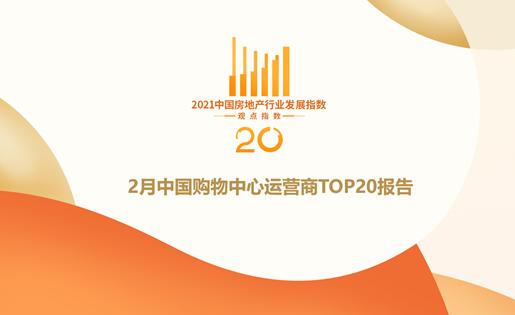 2月中国购物中心运营商TOP20报告·观点月度指数